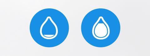 물의 양을 알려주는 스마트 기능! 물없음, 물가득 알림기능